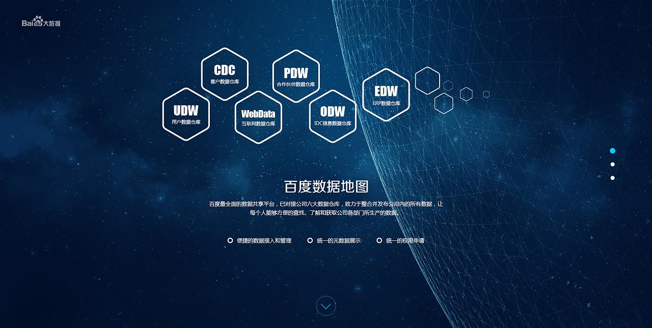 百度大数据平台网站引导页设计