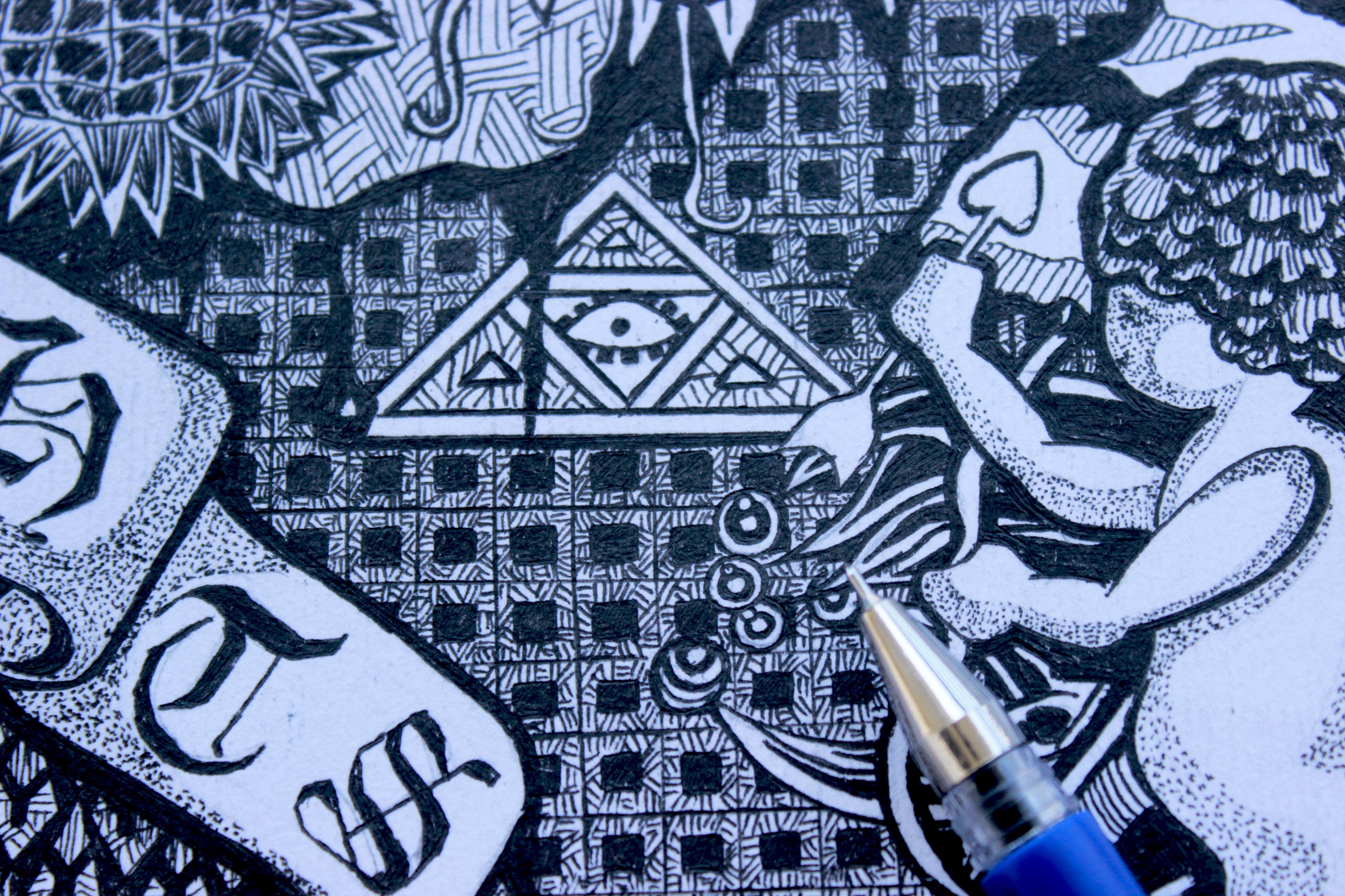 水笔手绘-装饰画1