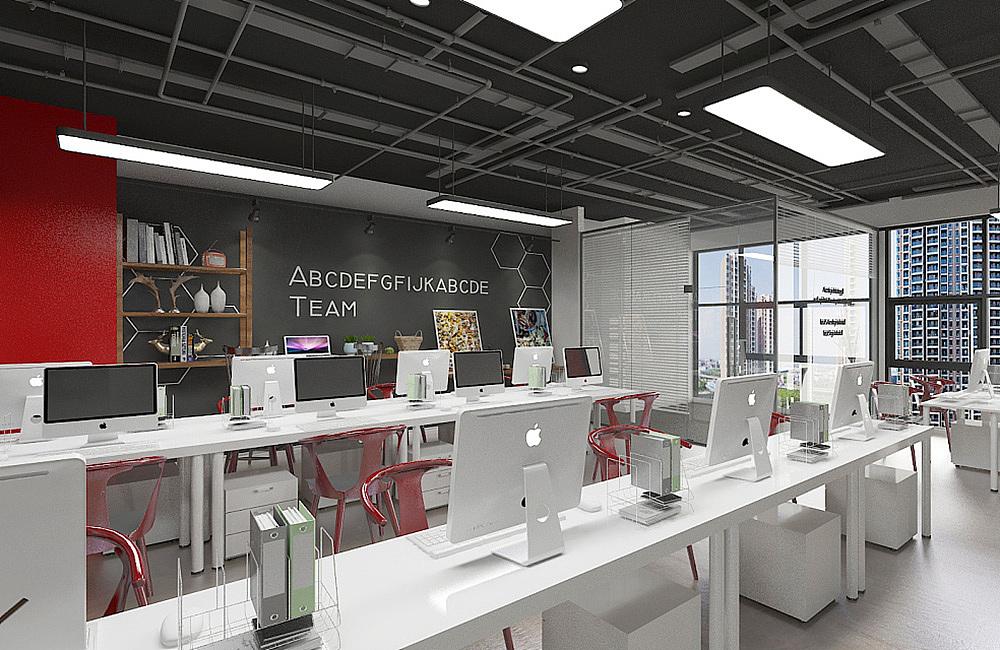 郑州教育培训公司办公室设计案例装修效果图