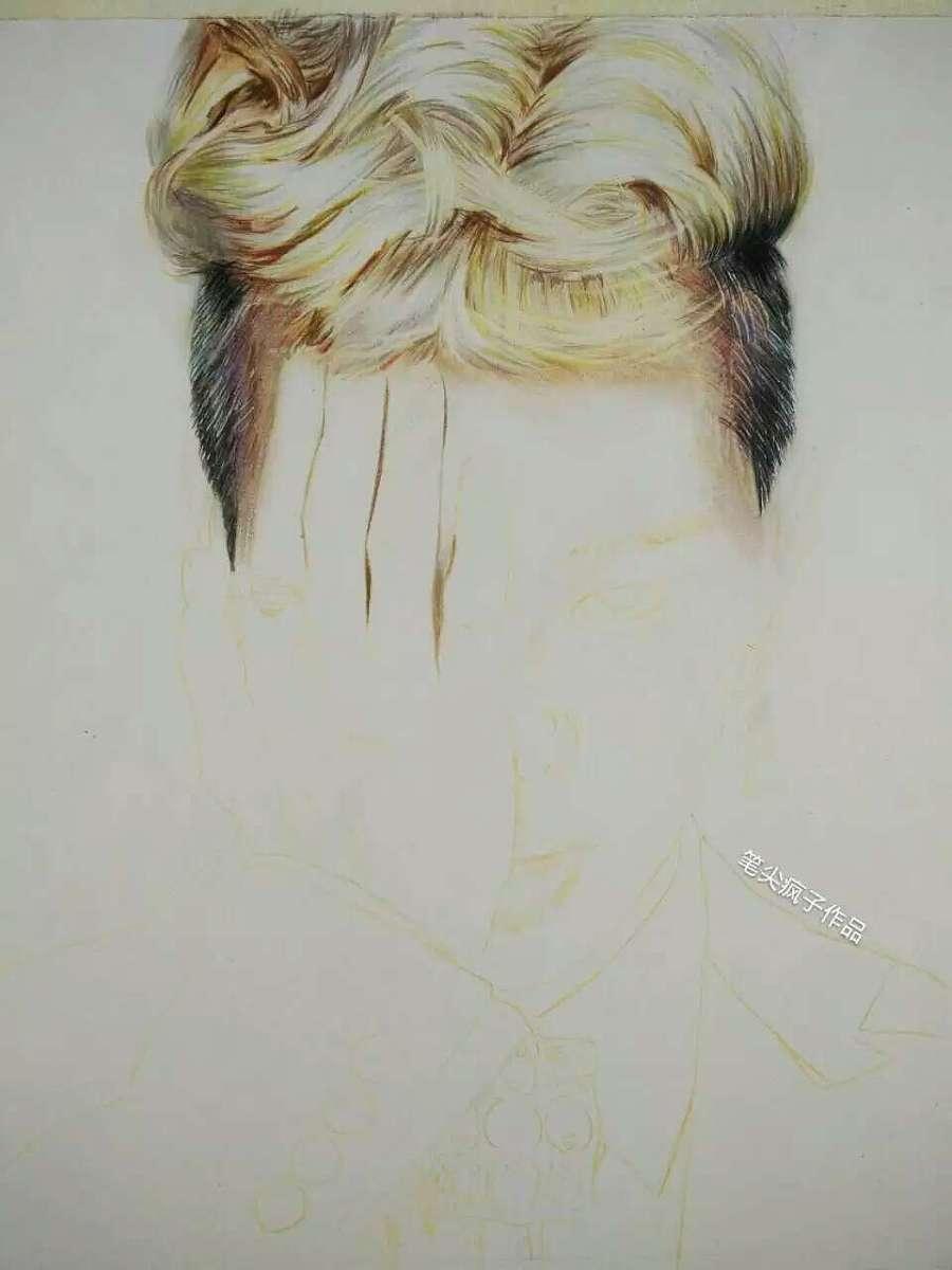 手绘权志龙|彩铅|纯艺术|huzhuowei12 - 原创设计作品