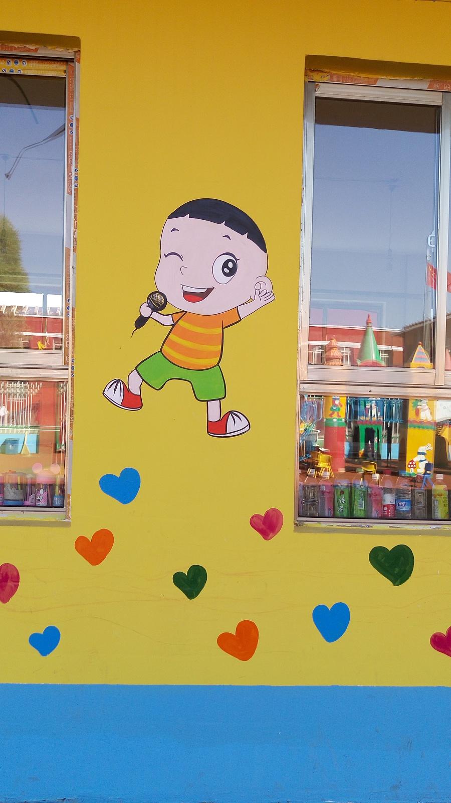 原创作品:幼儿园手绘墙