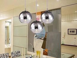 清吧网咖吧台玻璃球吊灯定制工厂铭星灯饰专业订做球灯