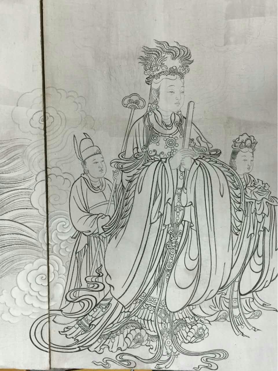 大光画记 山西高平炎帝陵炎帝大殿主体泥墙传统壁画图片