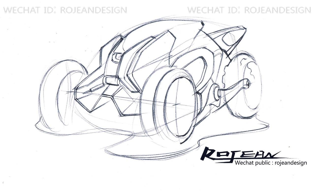 交通工具设计手绘过程-沙滩车|工业/产品|交通工具