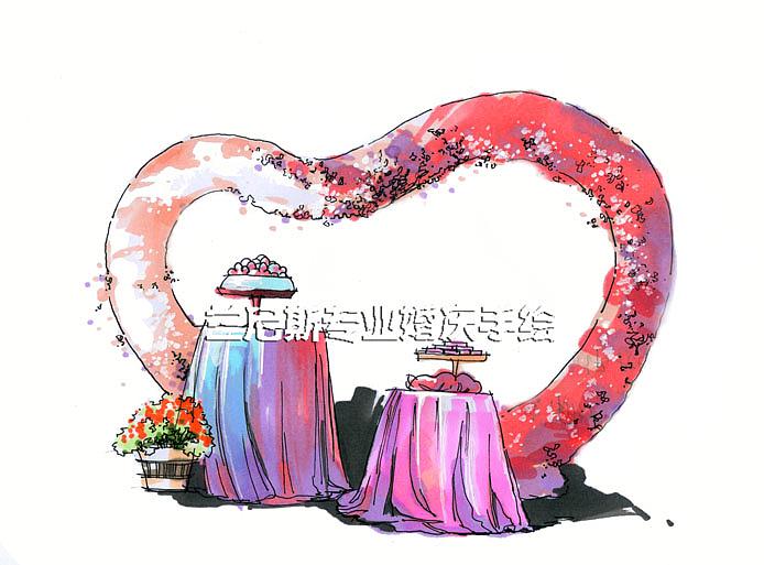 长沙婚礼手绘培训——兰尼斯婚礼手绘&红色系主题婚礼