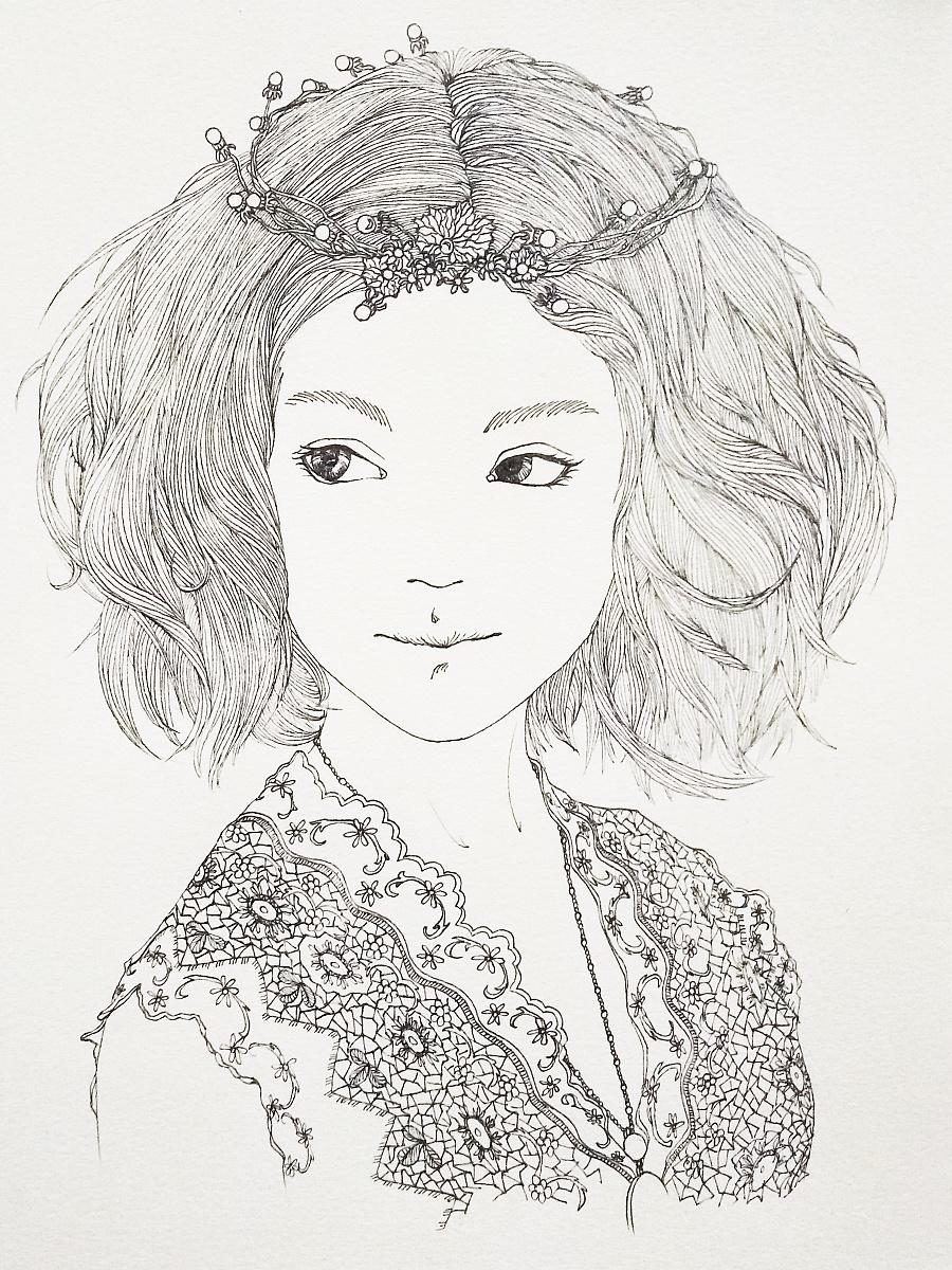 手绘黑白线条[暂时无名]|插画习作|插画|大思 - 原创