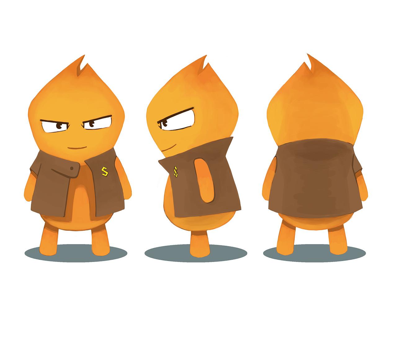 卡通人物设计三视图