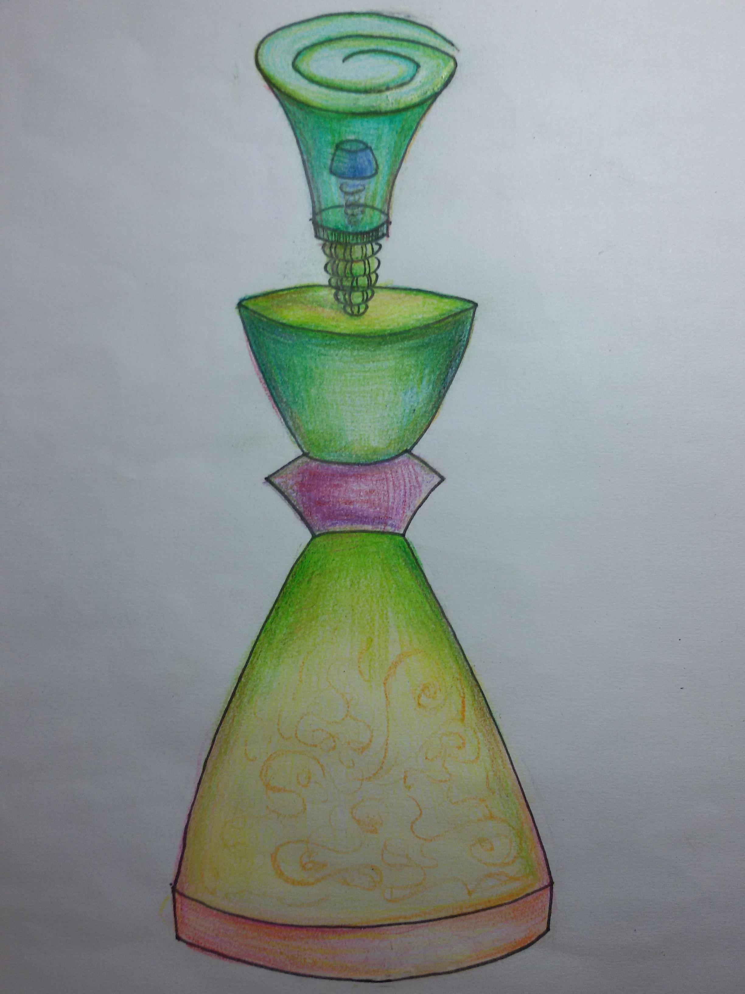 容器造型——手绘香水瓶