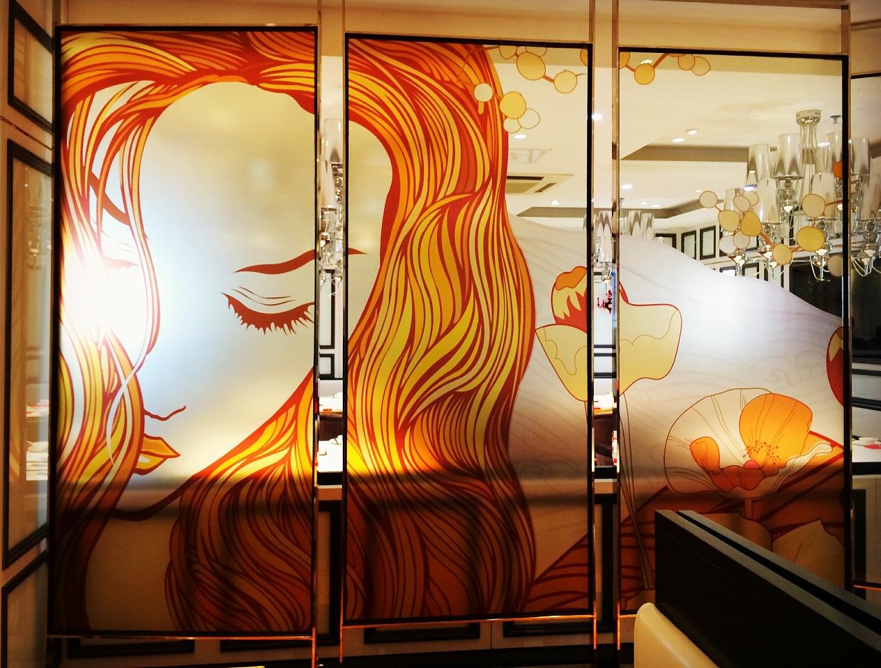 鼎旺港式茶餐厅软装,插画手绘