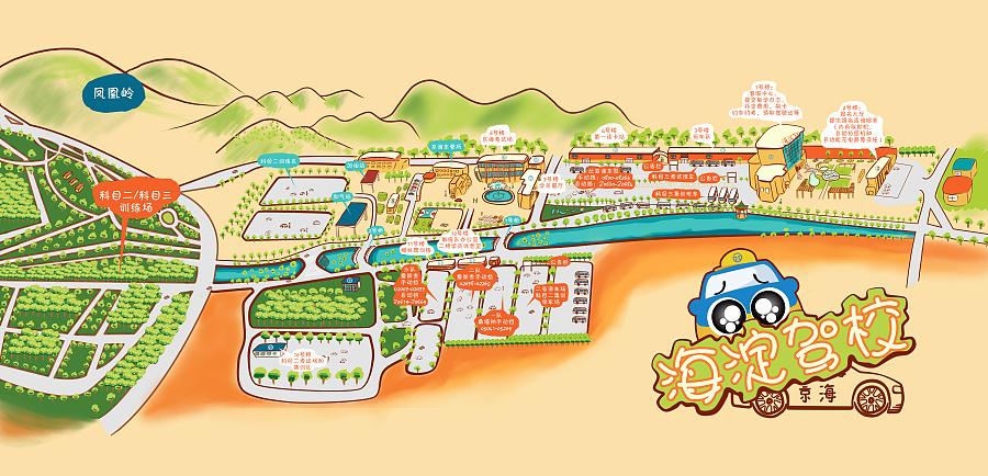 海淀驾校手绘地图
