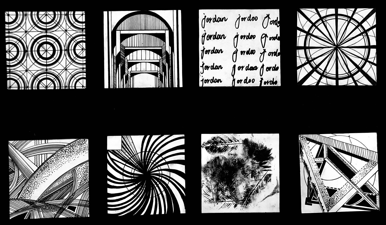 点线面构成创意作品_设计学类19-6班 骨骼练习 构成作业|平面|图案|54DOLLY - 原创作品 ...