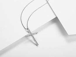 十字钻石吊坠