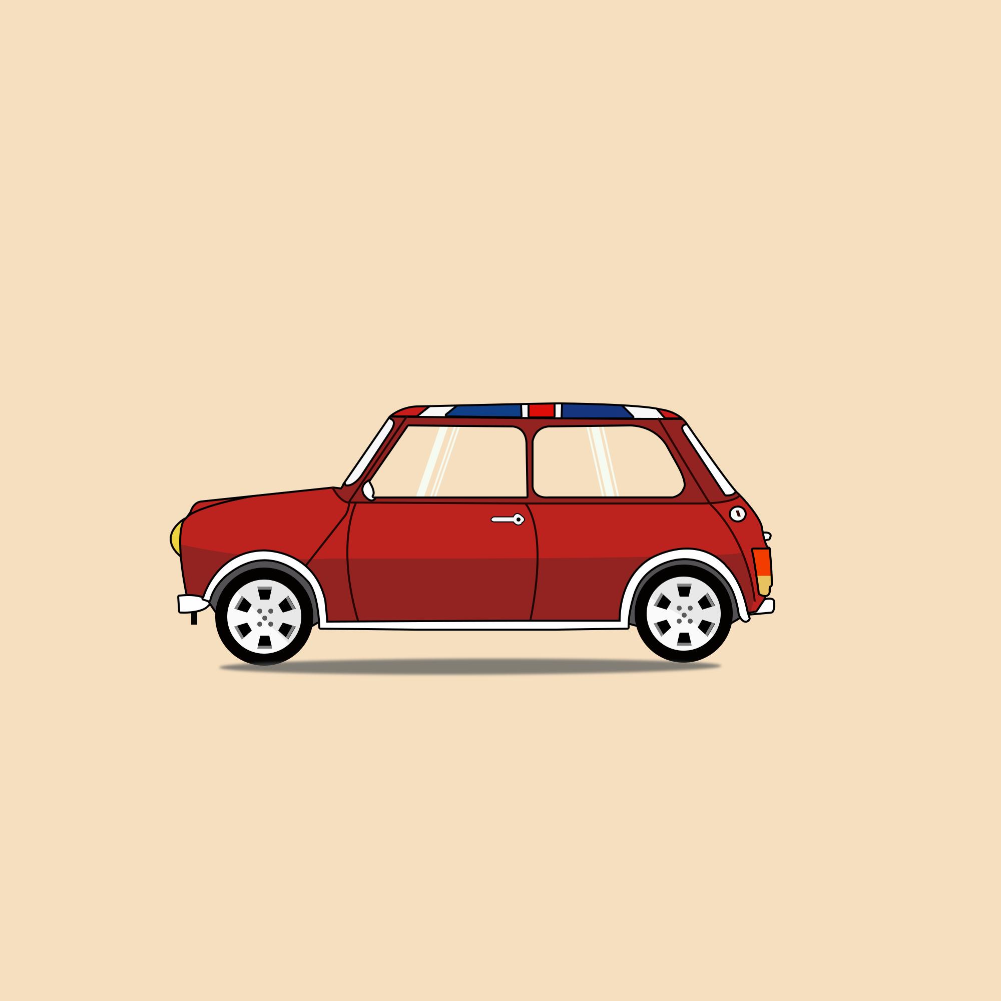车,mini,手绘车
