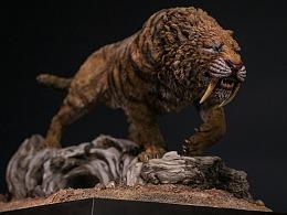 刃齿虎(剑齿虎) 收藏级雕像
