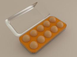 鸡蛋建模+渲染