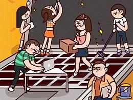 五一劳动节-节日/启动页/闪屏h5/插画/绘本/24节气
