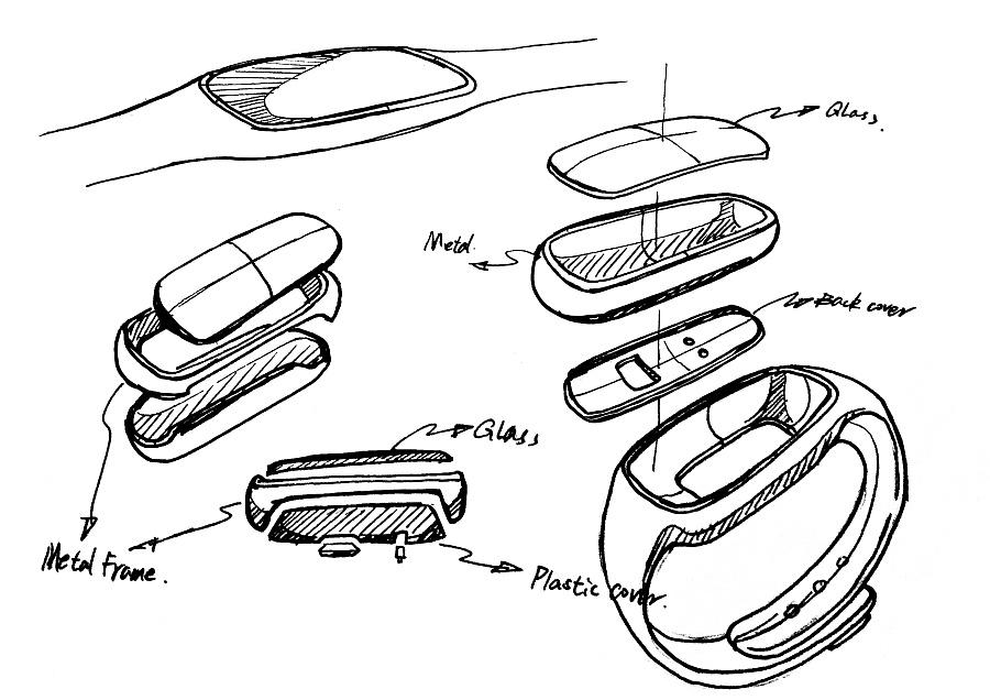 智能手环设计 电子产品 工业/产品 z413654219