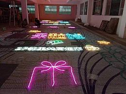 主题餐馆 娱乐场馆 户外主题元素灯光画美陈装饰定制