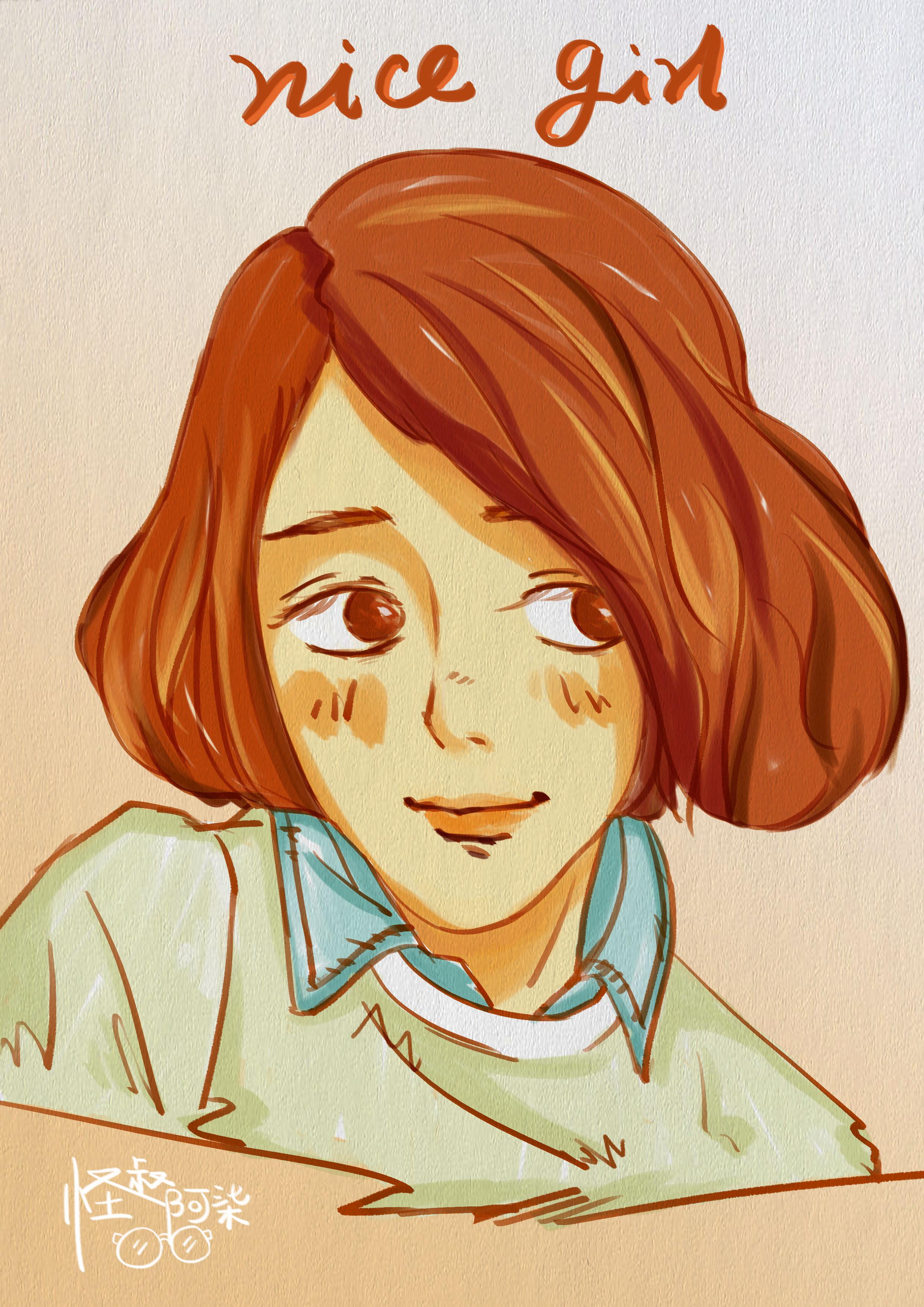 微信头像手绘萌少女