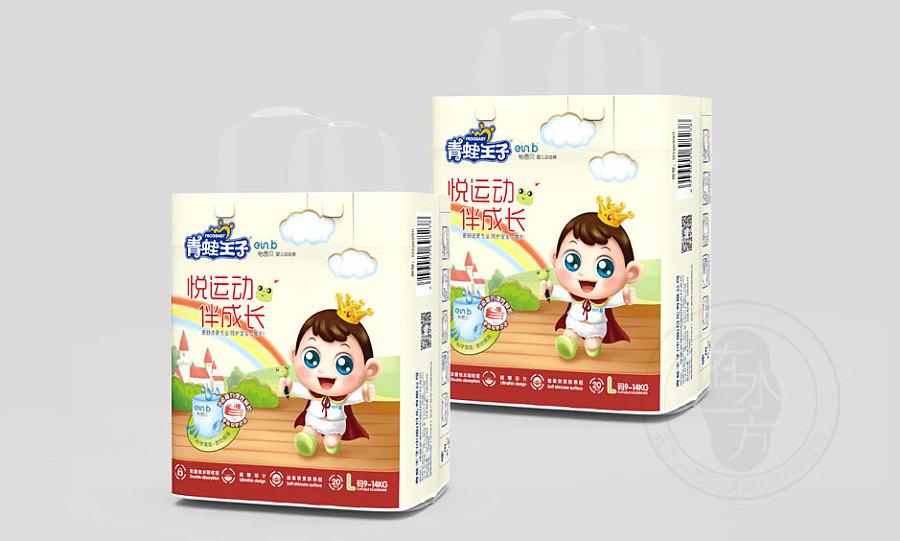 蛙王子 纸尿裤包装设计 卡通形象 婴儿小孩卡通图