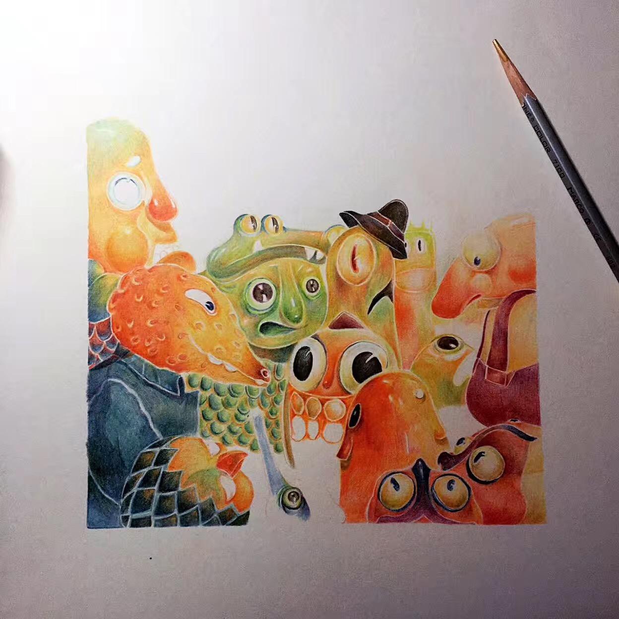 彩铅手绘|插画|儿童插画|pia插画师 - 原创作品
