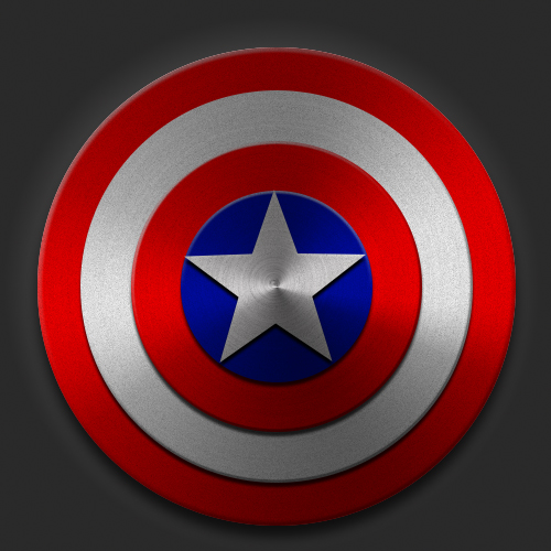 原创作品:美国队长盾牌