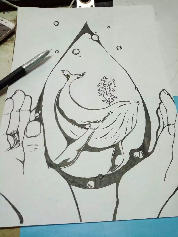 插画图片黑白手绘