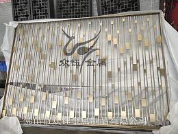 新中式拉丝香槟金不锈钢屏风隔断是家装的好帮手