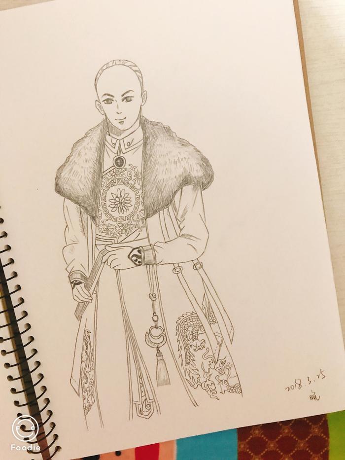 清朝古风人物素描