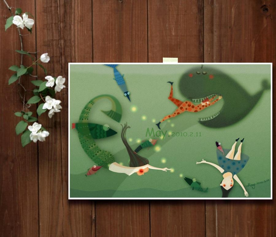 手绘插画系列《夏》