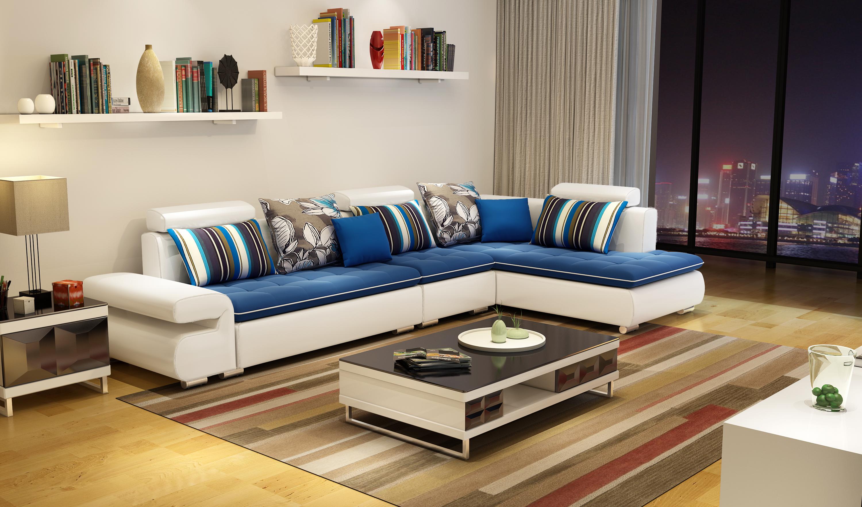 淘宝/天猫家具3d效果图制作--现代简约沙发a102