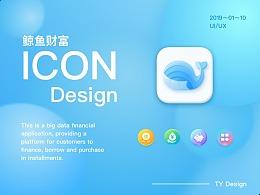 金融icon设计~鲸鱼财富