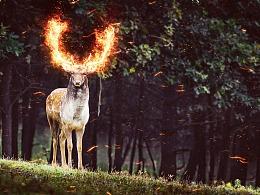 用PS动作制作爆炸火焰燃烧效果特效