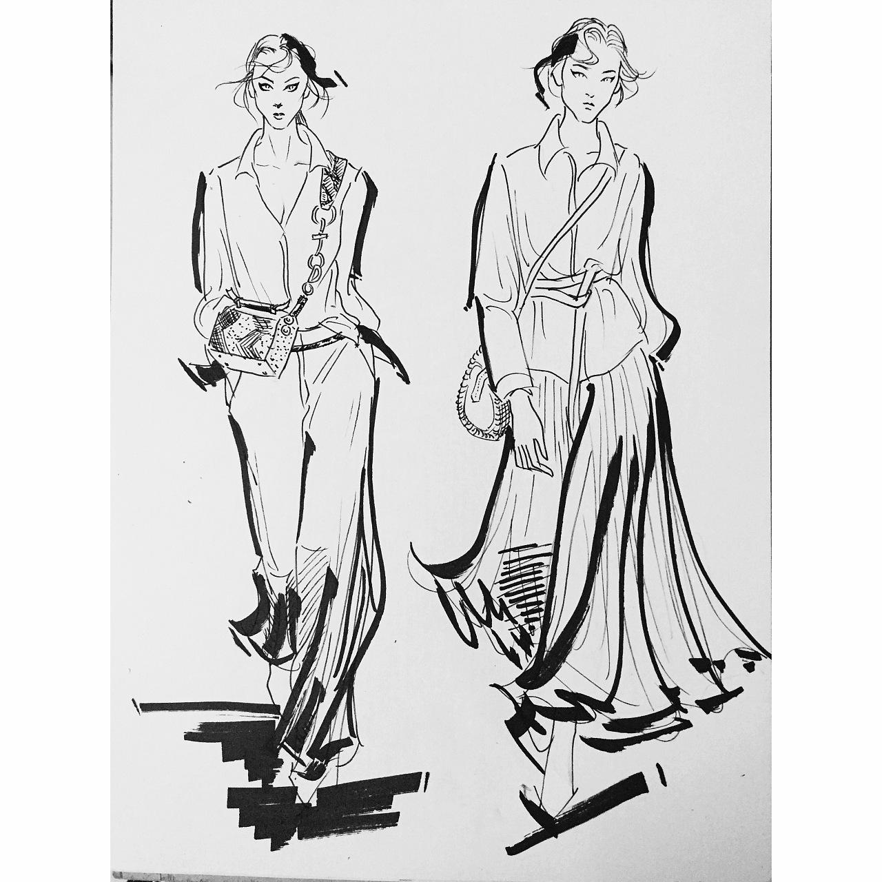时装画|服装|休闲/流行服饰|艾恩凯丁 - 原创作品