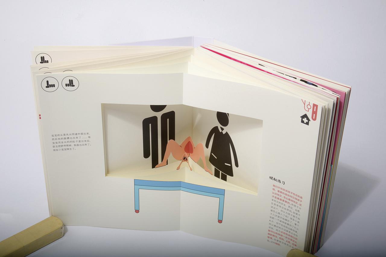 《家庭性教育》手工书书籍设计图片