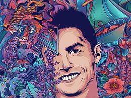 2018世界杯插画系列——葡萄牙