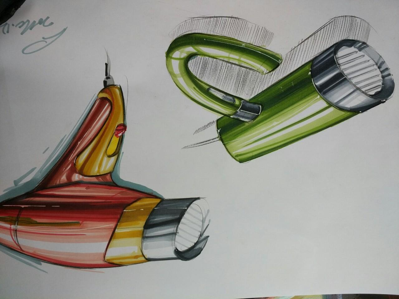 工业设计手绘 欢迎批评建议!|纯艺术|其他艺创|大白