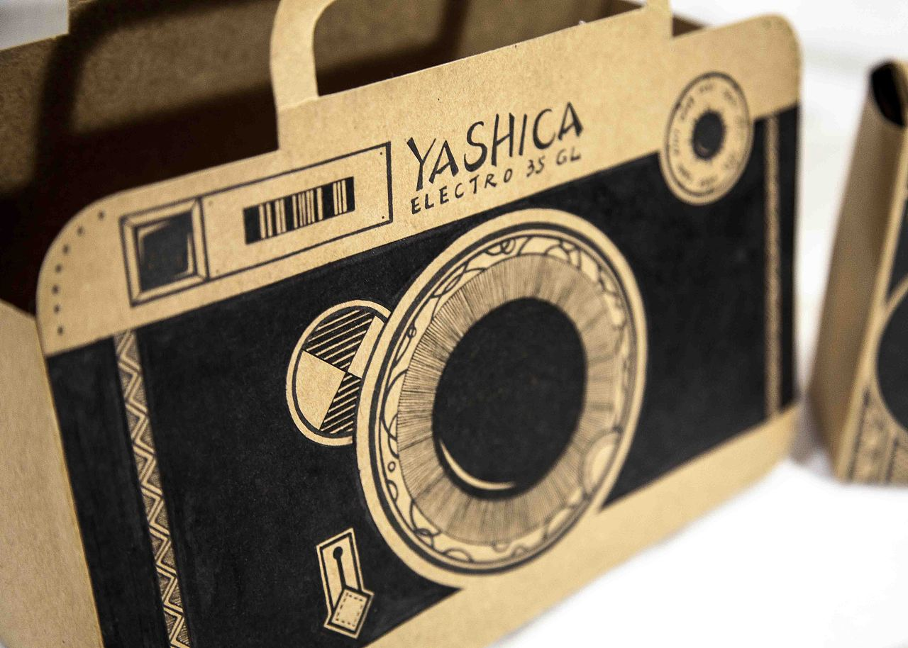 废纸盒手工制作相机