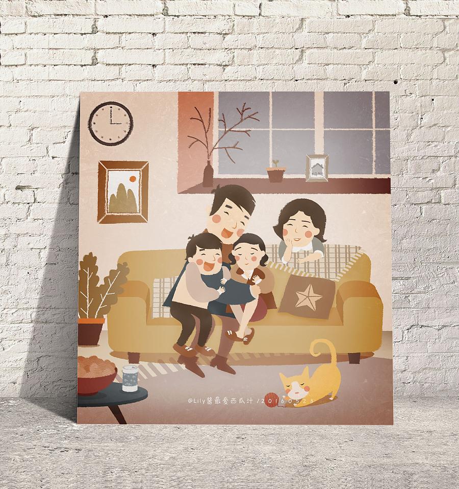 家是港湾 商业插画 插画 Lily酱子 - 原创设计作品