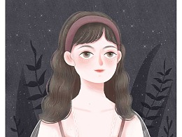 女生插画-About 24 Years Old .