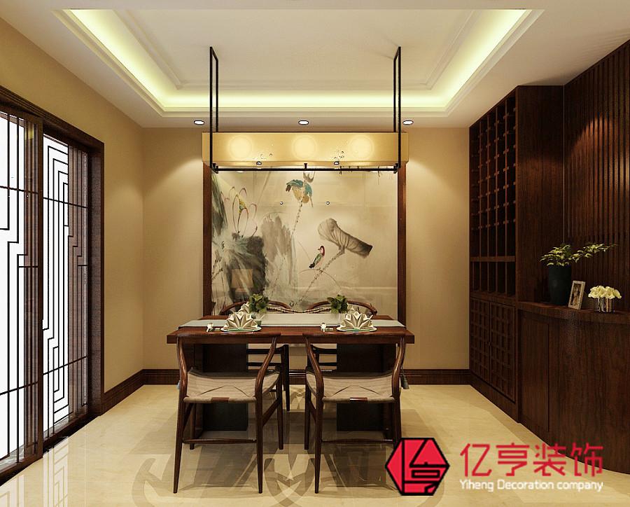 【亿亨装饰】林荫大院97两室两厅两卫新中式风格装修