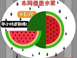 水果店促销海报设计