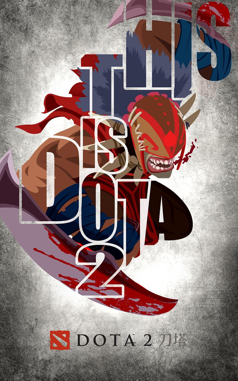 【pwcd出品】dota2创意海报设计|其他平面|平面|完美