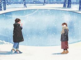 情侣插画2