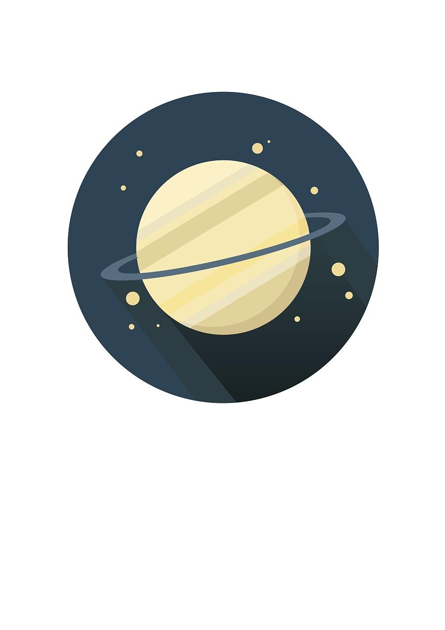原创作品:手绘木星icon