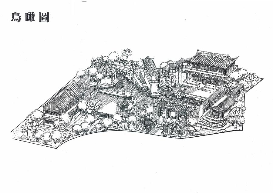 岭南展览馆设计手绘作业4