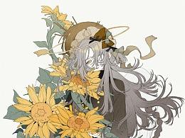 《少女与花》猫饼猫病