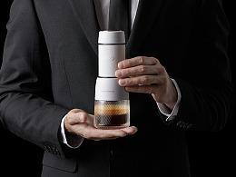 手压咖啡机模特拍摄