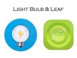 Light Bulb & Leaf
