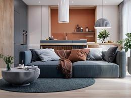 极具色彩感的生活空间 - 78㎡活力四射的家